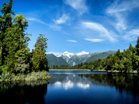 LAKE MATHESON, FOX GLACIER, WESTLAND NAT'L PARK, SOUTH ISLAND, NEW ZEALAND